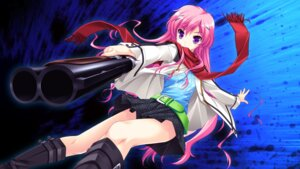 Rating: Safe Score: 53 Tags: 3rd_eye game_cg gun mukougaoka_kana sakaki_maki shinigami_no_testament User: Radioactive