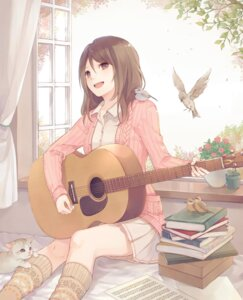 Rating: Safe Score: 53 Tags: guitar neko sweater yuki_yanagi User: Mr_GT