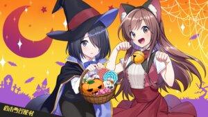 Rating: Safe Score: 23 Tags: animal_ears halloween iwamotocho_geinosha nekomimi shirafuji_tamaki suzuki_anzu sweater tagme witch User: saemonnokami