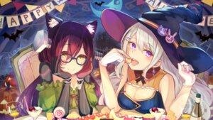 Rating: Safe Score: 37 Tags: animal_ears brat cleavage crossover halloween higuchi_kaede megane nijisanji roboco-san roboco_ch. wallpaper witch User: BattlequeenYume
