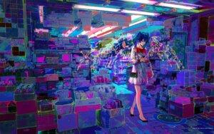 Rating: Safe Score: 19 Tags: hatsune_miku vocaloid wallpaper zain User: charunetra