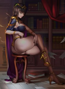 Rating: Questionable Score: 81 Tags: armor ass bikini_armor dantewontdie erect_nipples fire_emblem fire_emblem_kakusei heels tharja thong User: BattlequeenYume
