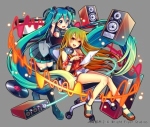 Rating: Safe Score: 12 Tags: cleavage hatsune_miku headphones heels nou thighhighs vocaloid User: Mr_GT