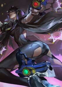 Rating: Safe Score: 25 Tags: ass bayonetta_(character) bayonetta_2 bodysuit gun heels iorlvm megane User: Mr_GT