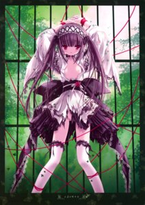 Rating: Questionable Score: 64 Tags: fixed garter gothic_lolita lolita_fashion nipples no_bra nopan open_shirt thighhighs tinkle torn_clothes User: petopeto