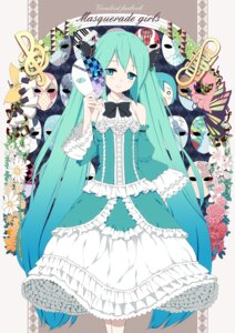 Rating: Safe Score: 30 Tags: dress hatsune_miku tukinan vocaloid User: fireattack