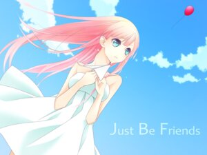 Rating: Safe Score: 22 Tags: dress just_be_friends_(vocaloid) megurine_luka shiromayu summer_dress vocaloid User: Radioactive