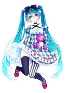 Rating: Safe Score: 35 Tags: 1055 dress hatsune_miku thighhighs vocaloid User: charunetra