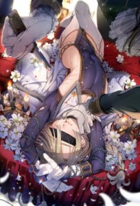 Rating: Questionable Score: 6 Tags: blood bondage cleavage ikezaki_misa no_bra stockings thighhighs torn_clothes weapon User: kiyoe