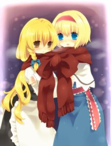Rating: Safe Score: 9 Tags: alice_margatroid dress kirisame_marisa nekoiro touhou User: charunetra