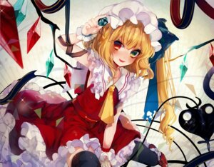 Rating: Safe Score: 15 Tags: daimaou_ruaeru flandre_scarlet heterochromia tagme tail thighhighs touhou wings User: Mr_GT