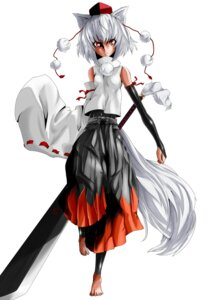 Rating: Safe Score: 5 Tags: animal_ears inubashiri_momiji nukosan. sword tail touhou User: Radioactive