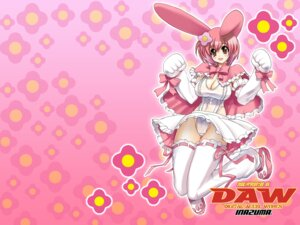 Rating: Questionable Score: 16 Tags: animal_ears bunny_ears cleavage digital_accel_works inazuma leotard lolita_fashion see_through thighhighs wallpaper User: Brufh