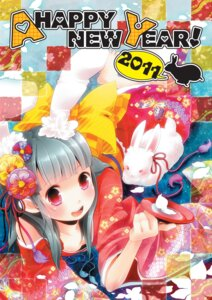 Rating: Safe Score: 14 Tags: animal_ears bunny_ears cleavage kimono sake tanaka_nyan User: fireattack