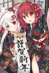 Rating: Safe Score: 40 Tags: animal_ears heterochromia kimono kitsune moai21 tail User: Nepcoheart