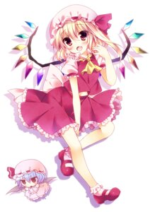 Rating: Safe Score: 23 Tags: chibi flandre_scarlet remilia_scarlet sorai_shinya touhou wings User: fairyren