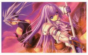 Rating: Safe Score: 9 Tags: armor aselia_bluespirit eien_no_aselia hitomaru sword uruka_blackspirit xuse User: hirotn