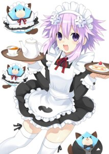 Rating: Safe Score: 27 Tags: choujigen_game_neptune maid neptune skirt_lift thighhighs zero_(ray_0805) User: Nepcoheart