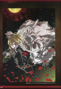 Rating: Questionable Score: 9 Tags: bandages beatrice_waltrud_von_kircheisen blood dies_irae dress g_yuusuke light sword uniform User: akagiss