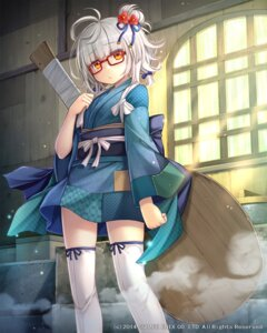 Rating: Safe Score: 47 Tags: lost_crusade megane namaru square_enix thighhighs weapon yukata User: 椎名深夏