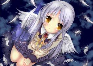 Rating: Safe Score: 51 Tags: angel_beats! duji_amo seifuku tenshi wings User: fireattack