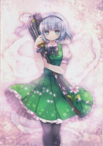 Rating: Safe Score: 15 Tags: capura.l dress eternal_phantasia konpaku_youmu pantyhose sword touhou User: 乐舞纤尘醉华音