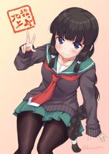 Rating: Safe Score: 29 Tags: kantai_collection kitakami_(kancolle) pantyhose seifuku sweater yukina_(black0312) User: Mr_GT