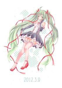 Rating: Safe Score: 21 Tags: dress hatsune_miku stockings thighhighs vocaloid yayoi User: Nekotsúh