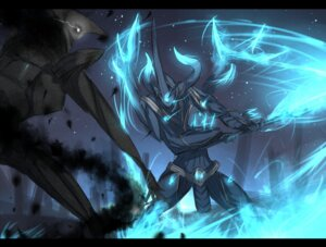 Rating: Safe Score: 21 Tags: horns jack_gale monster pixiv_fantasia shirogane_usagi sword User: charunetra