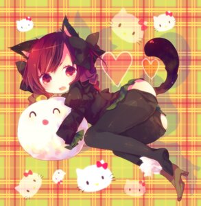 Rating: Questionable Score: 29 Tags: ana animal_ears kaenbyou_rin loli nekomimi pantyhose tail touhou User: Nekotsúh