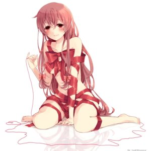 Rating: Questionable Score: 56 Tags: gasai_yuno hina_(kirakira) mirai_nikki naked_ribbon User: Radioactive