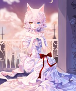 Rating: Safe Score: 19 Tags: animal_ears dress heterochromia nekomimi sheya User: Mr_GT