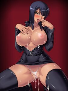 Rating: Explicit Score: 98 Tags: breasts cum kagami nico_robin nipples one_piece open_shirt pantsu pussy_juice see_through thighhighs User: bigchoofa