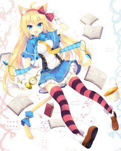 Rating: Safe Score: 62 Tags: animal_ears nekomimi nibiiro_shizuka tail thighhighs User: fairyren