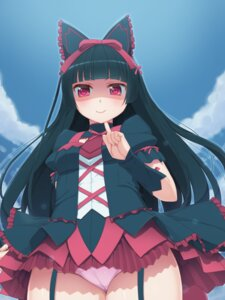 Rating: Questionable Score: 85 Tags: cameltoe dress gate:_jieitai_kanochi_nite_kaku_tatakaeri gothic_lolita lolita_fashion pantsu rory_mercury stockings tachimi_(basue) thighhighs User: Mr_GT