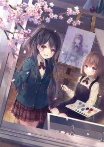 Rating: Safe Score: 91 Tags: fukahire_sanba seifuku User: Twinsenzw