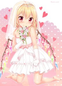Rating: Safe Score: 57 Tags: dress flandre_scarlet touhou wedding_dress yukiu_con User: Urameshiya
