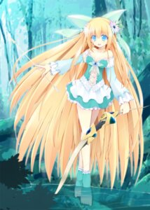 Rating: Questionable Score: 41 Tags: cleavage dress kuon_itsuki weapon wet User: fairyren