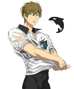 Rating: Safe Score: 6 Tags: free! ku_(pixiv_19193156) male see_through tachibana_makoto wet_clothes User: kunkakun