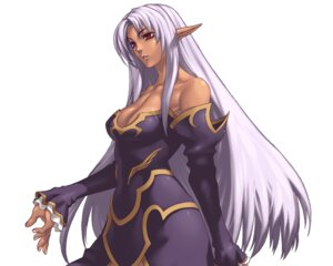 Rating: Safe Score: 9 Tags: cleavage dress elf nakamura_tatsunori pointy_ears prana spectral_force spectral_force_chronicle User: Radioactive