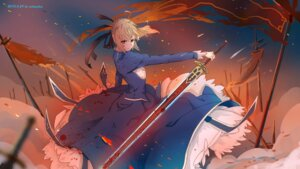 Rating: Safe Score: 16 Tags: blood dress fate/stay_night saber sword xi_chen_chen User: Noodoll