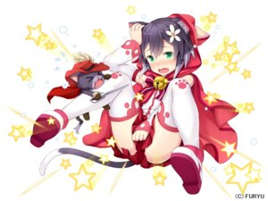 Rating: Questionable Score: 58 Tags: animal_ears namaru neko nekomimi sword tail thighhighs User: Mr_GT