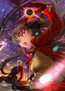 Rating: Safe Score: 24 Tags: archer fate/stay_night mikazuki_akira seifuku toosaka_rin User: fairyren