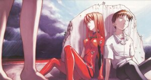 Rating: Safe Score: 11 Tags: bodysuit ikari_shinji neon_genesis_evangelion souryuu_asuka_langley User: Radioactive