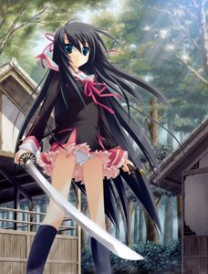 Rating: Questionable Score: 70 Tags: game_cg kanou_kayoko koiiro_soramoyou lucie pantsu seifuku sword User: van