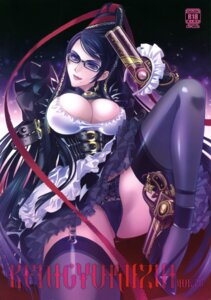Rating: Questionable Score: 75 Tags: bayonetta bayonetta_(character) carnelian cleavage garter_belt gun megane pantsu stockings thighhighs User: YamatoBomber