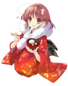 Rating: Safe Score: 21 Tags: flyable_heart inaba_yui ito_noizi kimono User: fireattack
