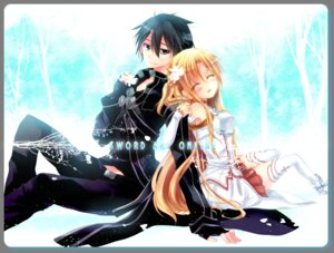 Rating: Safe Score: 17 Tags: asuna_(sword_art_online) kirito sara_yuuki sword_art_online thighhighs User: fairyren