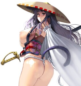 Rating: Questionable Score: 60 Tags: animal_ears artist_revision ass breasts fundoshi japanese_clothes masao nipples no_bra open_shirt sword tagme tail thong User: BattlequeenYume