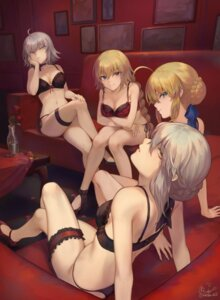 Rating: Questionable Score: 69 Tags: bra breast_hold cleavage fate/grand_order garter heels jeanne_d'arc jeanne_d'arc_(alter)_(fate) jeanne_d'arc_(fate) lingerie mashu_(003) pantsu saber saber_alter string_panties User: Genex